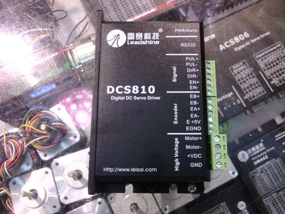 Livraison gratuite Leadshine DC servomoteurs DCS810 travail 24-80 VDC sur 1A à 20A adapté pour DCM50207/DCM50205 DC brosse servomoteur