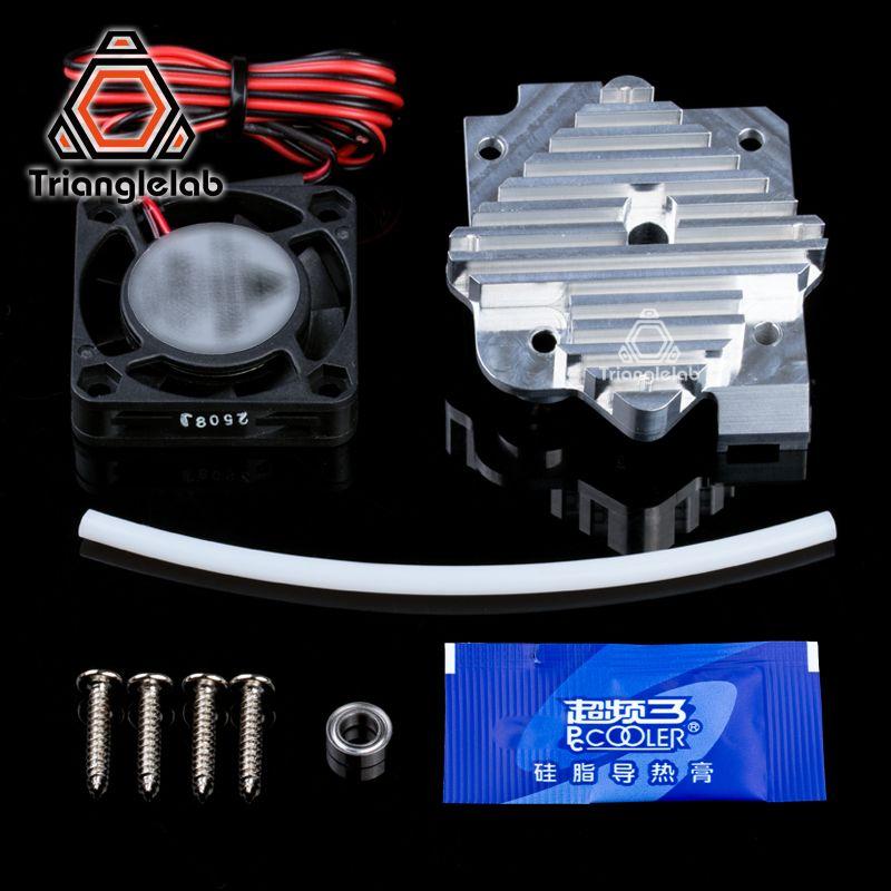 Trianglelab 3d imprimante pièces 1.75/3mm en aluminium Titan Aero extrudeuse Kit de Mise À Niveau 12 V/24 V ventilateur livraison gratuite reprap mk8 i3