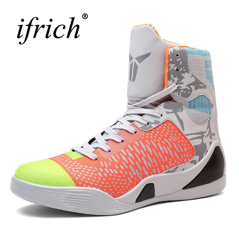 Mens Basketball Sneakers High Top Basketball Shoes For Men Black/Green Shoes Training Men Leather Sport Shoes Men Basketball
