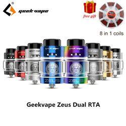¡Regalo libre! original Zeus doble RTA Geekvape Zeus doble bobina Versión 4 ml RTA zeus atomizador fugas top airflow sistema E cigarrillo