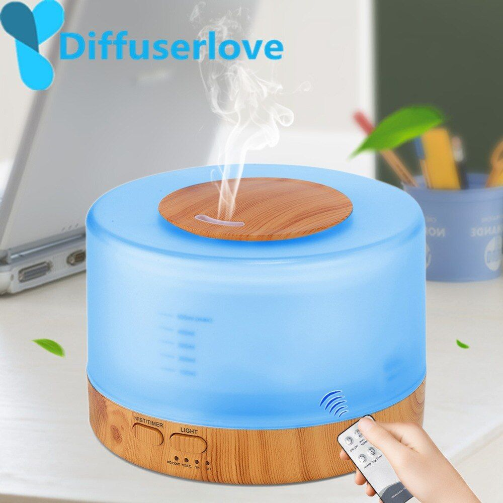 Diffuserlove 500ml Humidifier Remote Control Essential Oil Diffuser Cool Mist Humidifier EU AU UK US Plug Air Humidifier