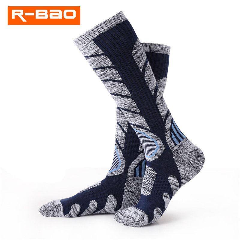 R-BAO Térmica de Invierno Calcetines de Algodón Deporte de Snowboard de Esquí Ciclismo Calentadores de La Pierna Calcetines Thermosocks Para Hombres Mujeres RB3301 M L