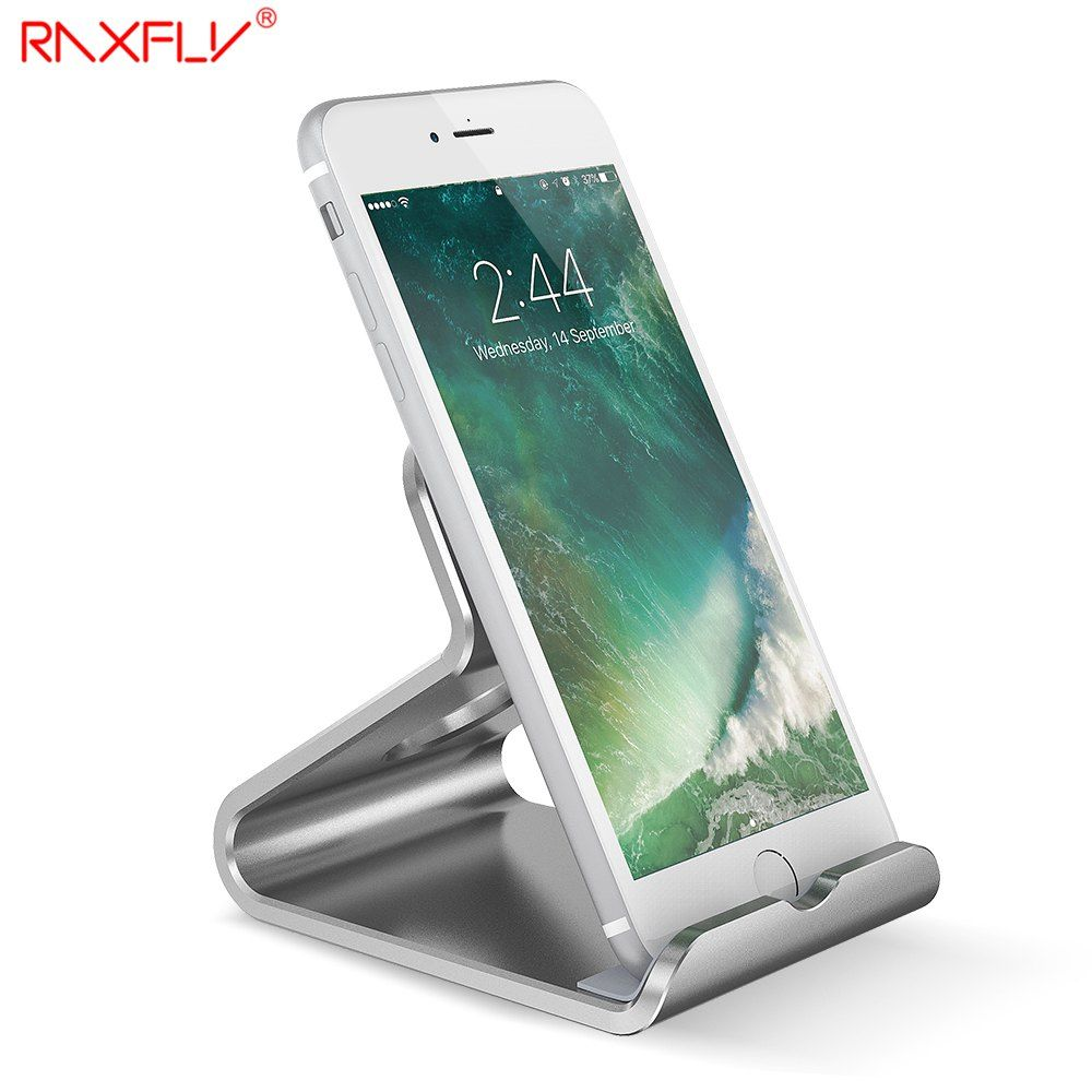 RAXFLY Universel Aluminium Mobile Téléphone Stand Support Pour Iphone 5 6 6 S 7 Ipad Samsung S6 S7 Tablet Stand Bureau Titulaire Stand