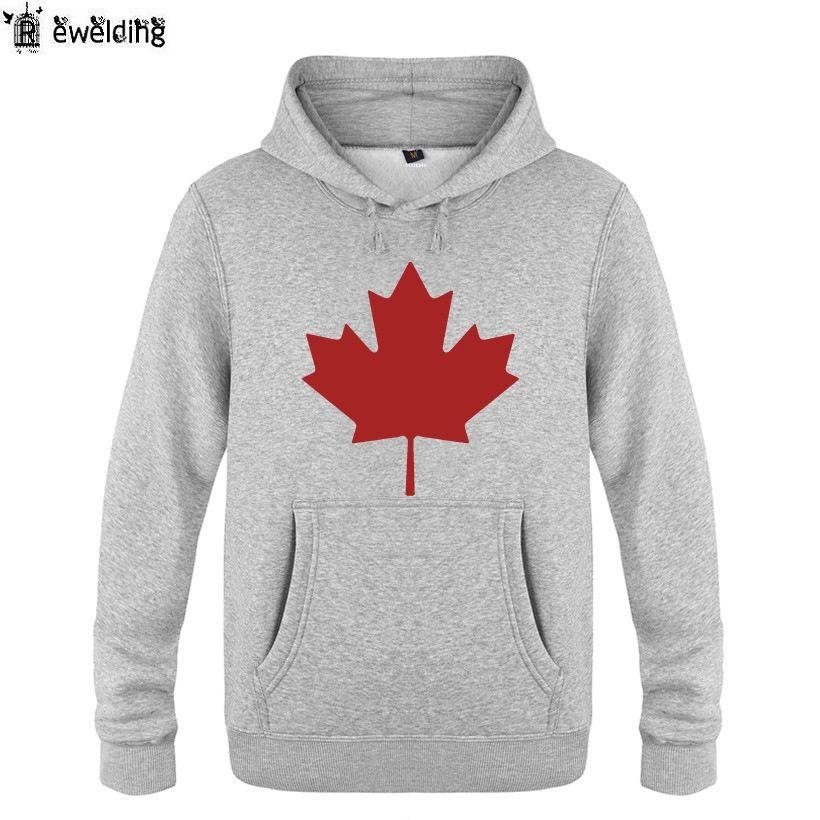 Mens Hoodies Canada or Toronto Maple Leaf Printed Hoodie Men Fleece Long Sleeve Man's Sweatshirt Pullover Hip Hop Streetwear