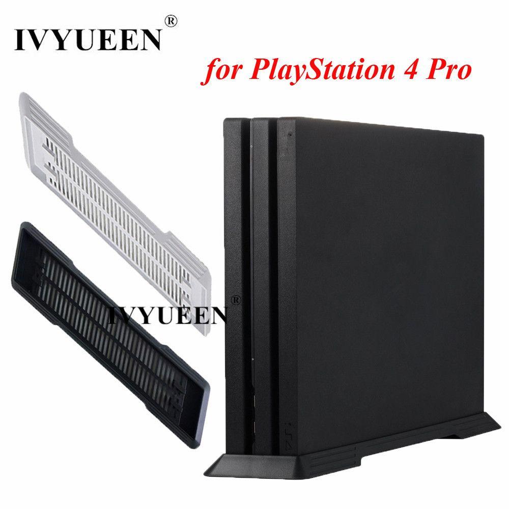 IVYUEEN Für Sony PlayStation 4 PS4 Pro Konsole Anti-Slip Vertikale Standplatz-dock-halterung Halter Spiel Zubehör-schwarz/Weiß