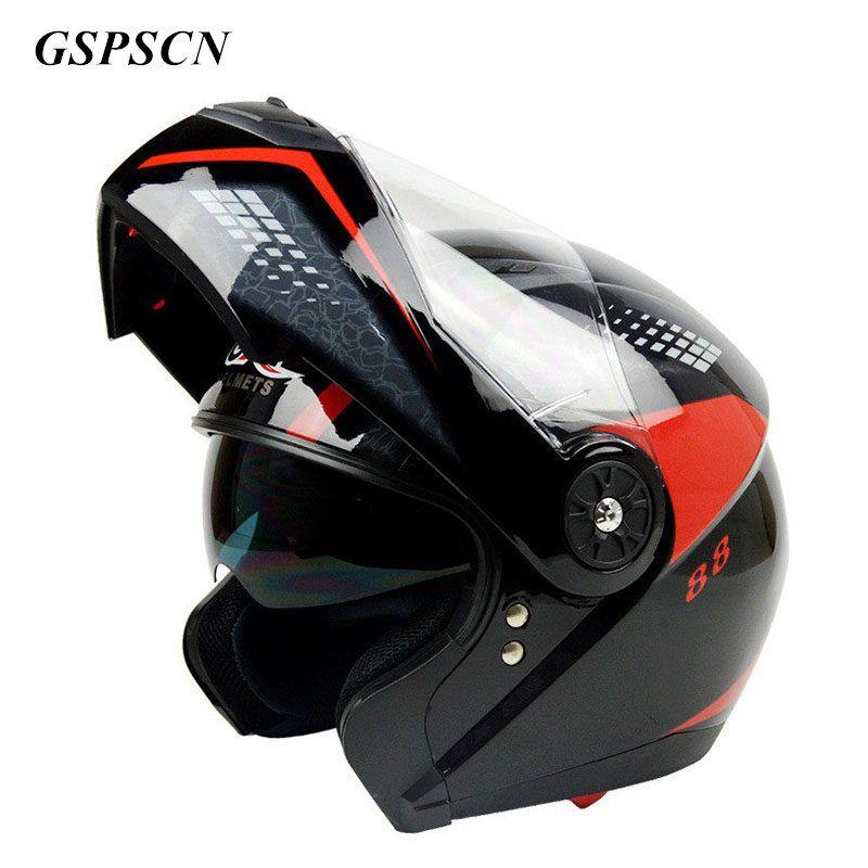 2017 New arrival Flip Up motorcycle helmet Double Lens Full Face Helmet With Inner Lens Moto Cascos Motociclistas Capacete
