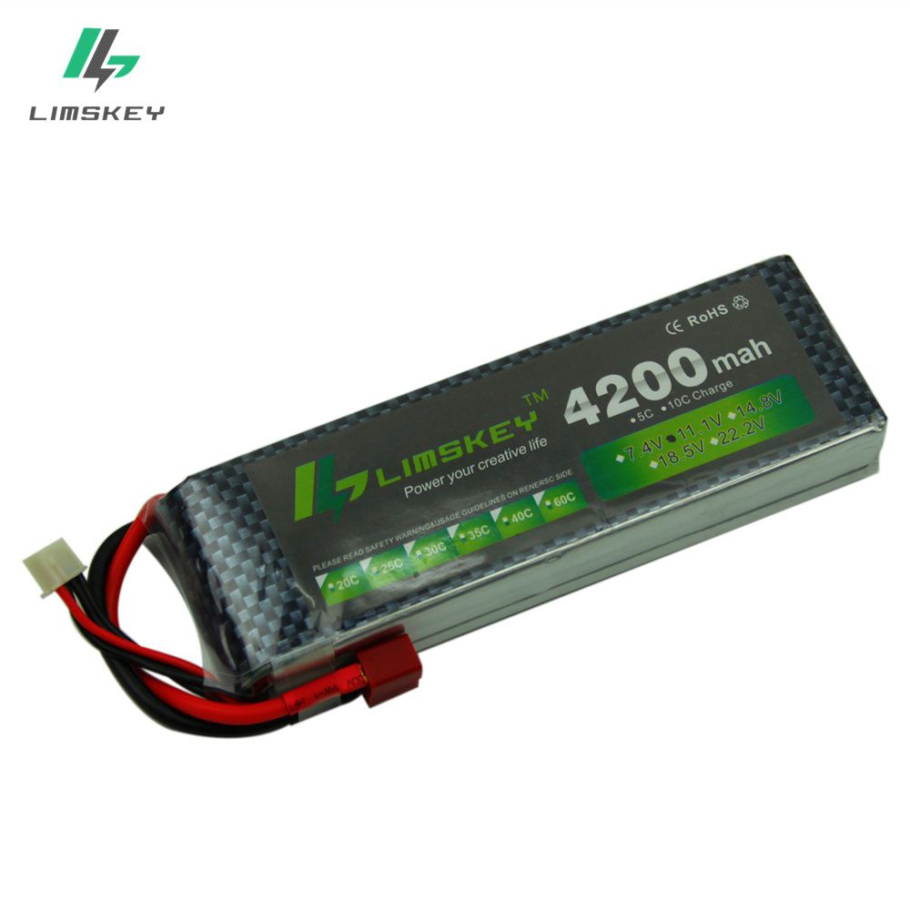 Limkey power 11.1v 4200maH 30c~35c For Helicopters Four axis Airplanes Cars Boats power T/XT60/JST/EC3/EC5 Plug 3s lipo bettary