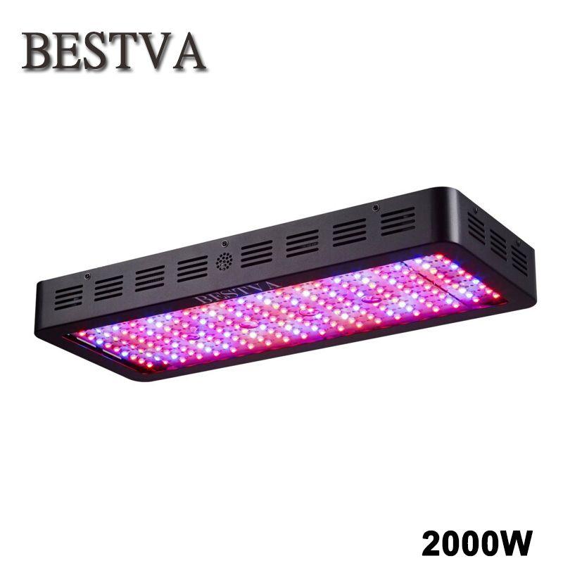 Bestva полный спектр 2000 Вт растет свет двойные чипы для комнатных растений свет парниковых цветок Вег расти рост светодиодные фонари