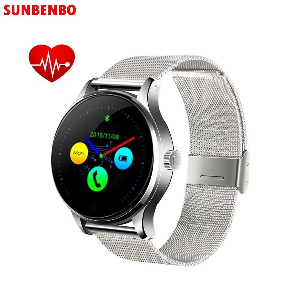 2017 New K88H Smart Watch Track Wristwatch Bluetooth Heart Rate Monitor Pedometer Dialing Smartwatch Phone For Android IOS