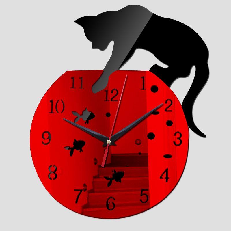 new wall clock hot sale real clocks reloj de pared modern design qua living room needle acrylic europe horloge freeshipping