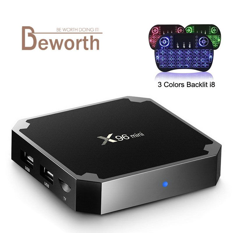 X96 Mini Android 7.1 TV BOX 2GB 16GB Amlogic S905W Quad Core 2.4GHz WiFi Media Player IPTV Smart Set-top Box 1GB 8GB X96mini