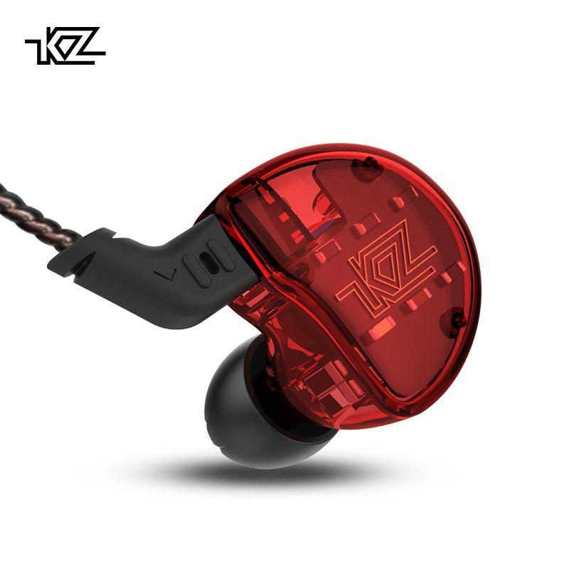 KZ ZS10 Headphones 10 Driver In Earphone 4BA+1DD Dynamic Armature Earbuds HiFi Bass Headset <font><b>Noise</b></font> Cancelling Ear Monitors hybrid