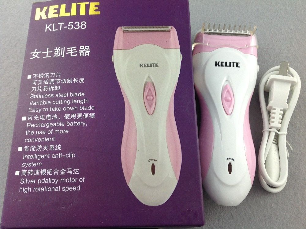 Epilator Electric Hair Removal 220V  Stainless Steel Blade Smart Anti-Clamp System Rechargeable Battery Convenient