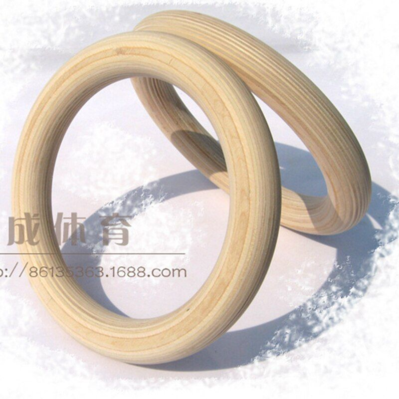 Professional Birch Wood Gymnastic Rings  Gym Rings with Adjustable Long Buckles Straps Workout For Home Gym & Cross Fitne