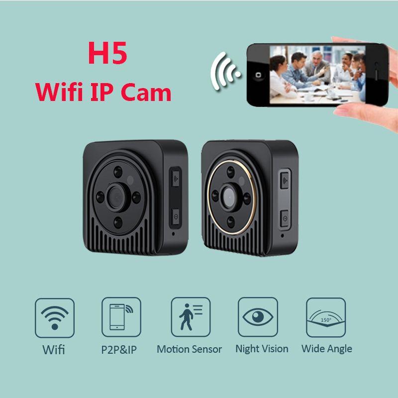 H5 Wireless Mini Camera H.264 720P HD Wifi IP DV Camera Infrared Night Vision Micro Camera Wide Angel 150 Degree Mini Camcoeder