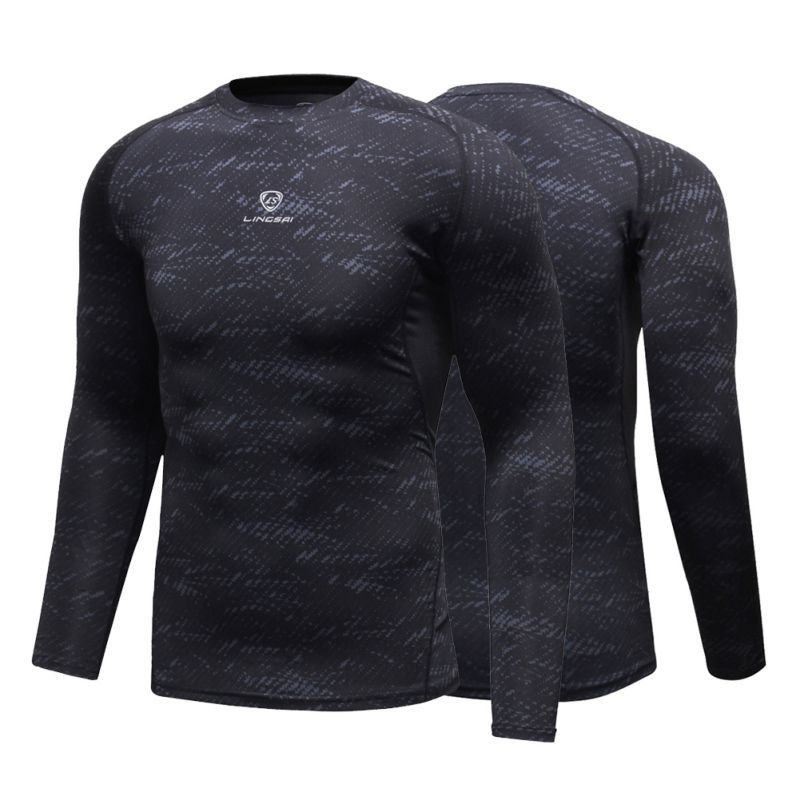 Men Compression T-shirt Long Sleeve Joggers Jogging  Running Sport Male Gym Fitness Sports Bodybuilding Tights Base layers