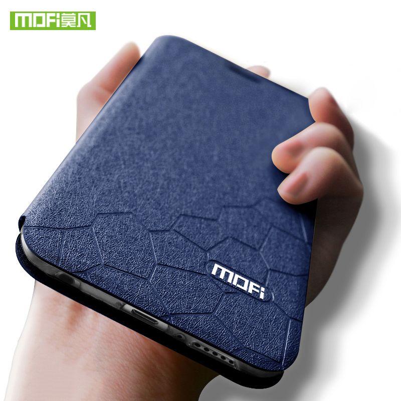 Pour Huawei honor 10 housse honor 10 cas en cuir transparent silicon TPU retour mince metall couverture Mofi pour Huawei honor 10 cas