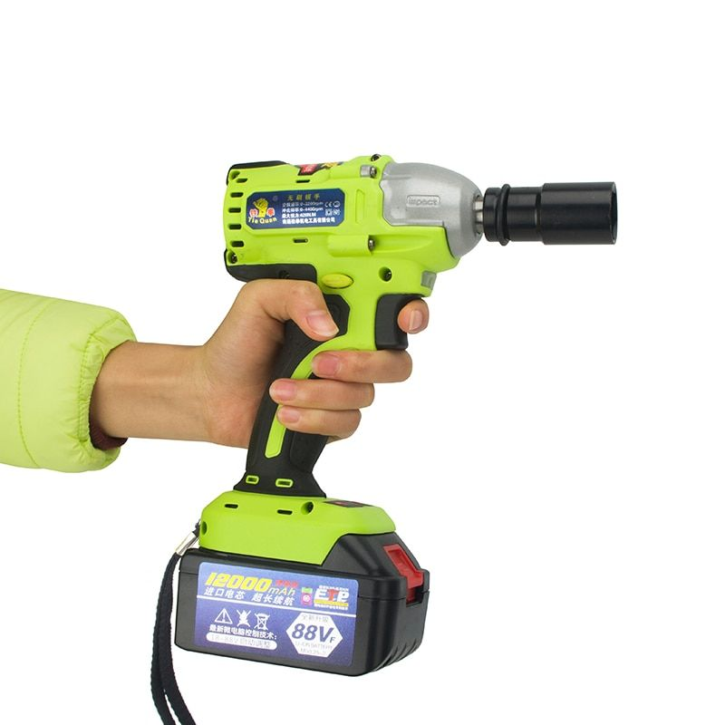 18-88V Lithium Battery Max Torque 420N.m Brushless Cordless Electrical Impact Wrench Rechargeable Nut Spanners Screw Gun