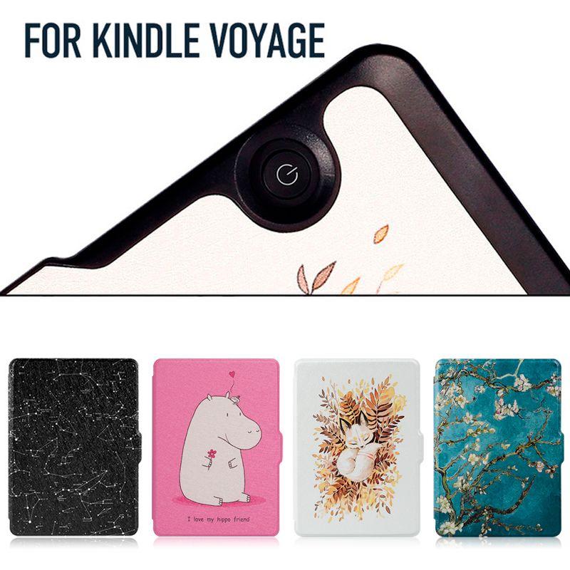 Smart В виде ракушки чехол для Kindle Вояж самый тонкий и лёгкий защитный кожаный чехол с Авто Режим сна/Пробуждение для kindle Вояж