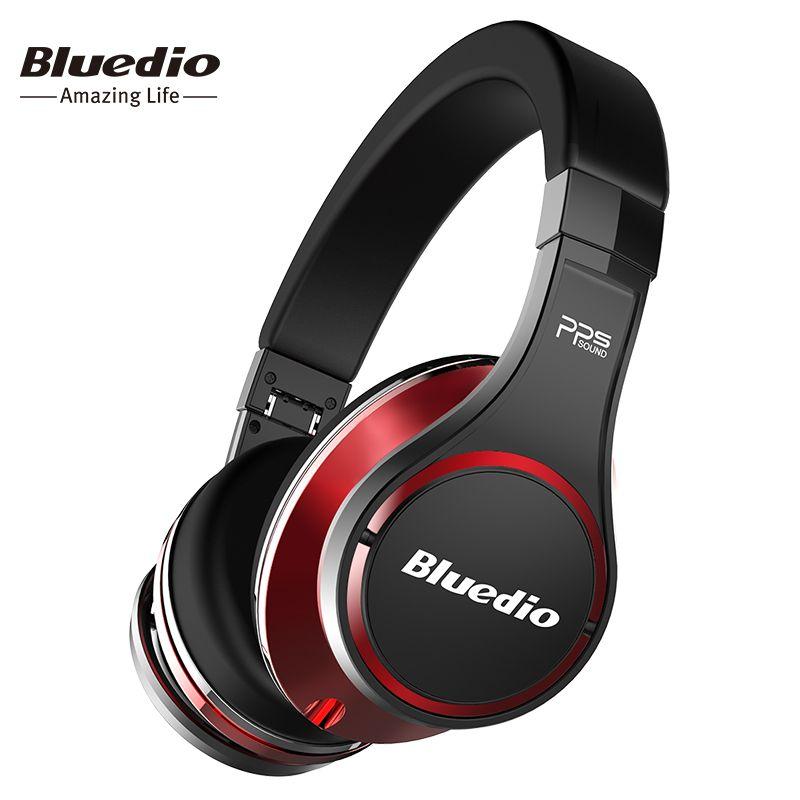 Bluedio U(UFO)High-End Bluetooth headphone Patented 8 Drivers/3D Sound/Aluminum alloy/HiFi <font><b>wireless</b></font> Over-Ear headphone