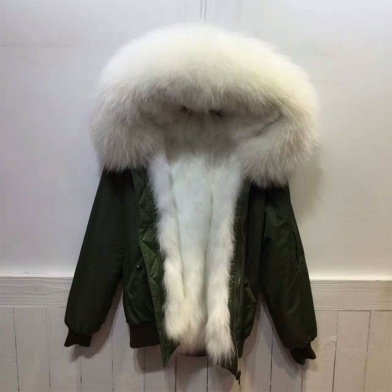 New High Popular Fashion style Winter Bomber Jacket Fox fur Lining Bomber Jacket Thicken Fur