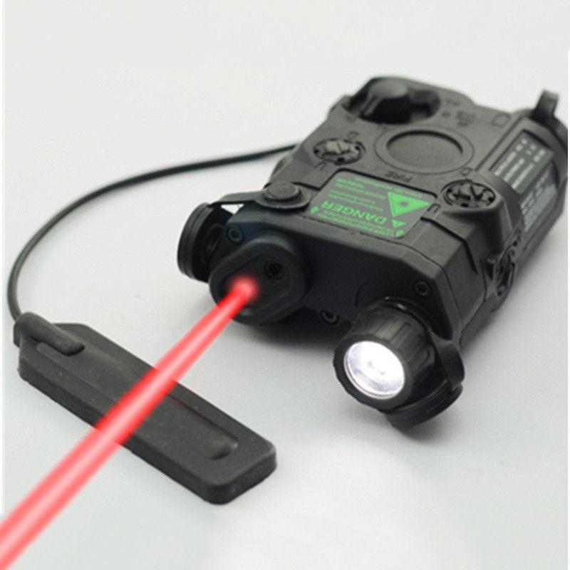 D'origine FMA Tactique Militaire Airsoft AN/PEQ-15 Batterie Boîte Laser Red Dot Laser Avec Blanc lampe de Poche LED et IR objectif Tan/BK