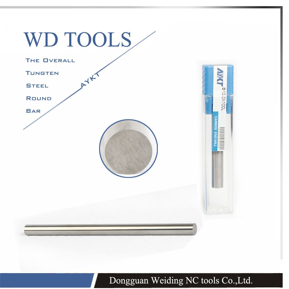 free shippping 13X100 1pcs 99.95% Pure Tungsten Metal Rod Round Bar Diameter 6mm Length 100mm polish rod For Industry Tool