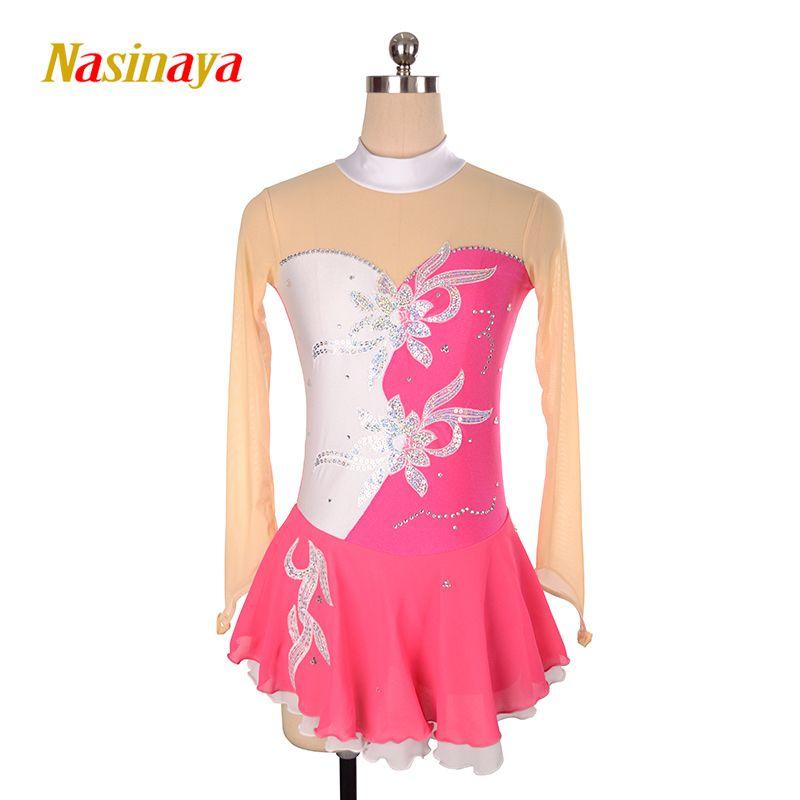 Nasinaya Eiskunstlauf Kleid Customized Wettbewerb Eislaufen Rock für Mädchen Frauen Kinder Patinaje Gymnastik Leistung 001