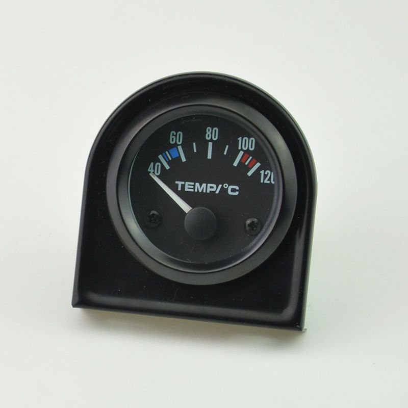 52mm black shell white backlight car motorcycle Water temperature gauge 40-120C Free shipping