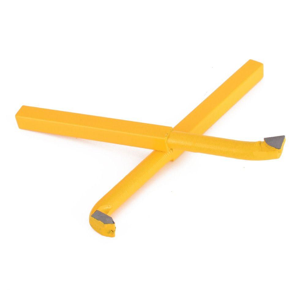 9 teile/satz YW1 Legierung Hartmetall Gelötete Spitze Gekippt Drehmaschine Cutter Werkzeuge 8*8mm Schaft Hohe Härte Drehen Fräsen schweißen Bit Mayitr