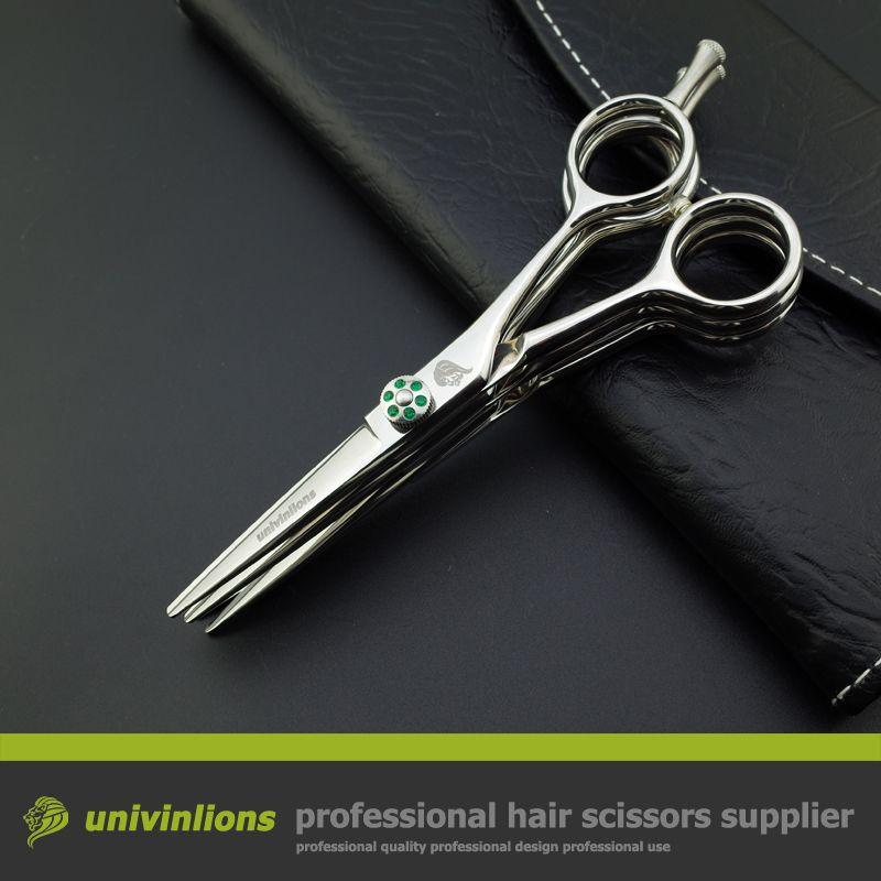 Univinlions 5.5 ciseaux à lames multiples coiffeur ciseaux à coupe multiple 3 couches cisaille à coupe de cheveux japonais