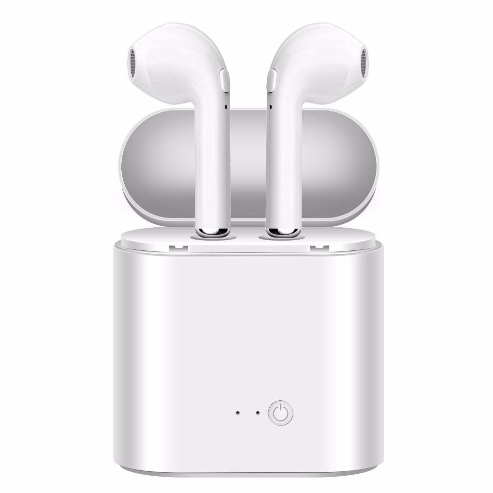 Bluetooth Écouteurs Écouteurs Sans Fil Casque TWS Double Twins Stéréo Musique Casque Pour iPhone 6 Samsung Android Xiaomi Huawei