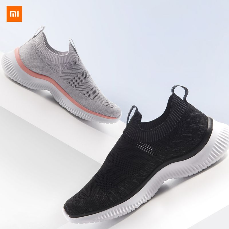 Xiaomi Mijia Youpin ULEEMARK Lightweight Walking Couple Casual Shoes Flying Woven Upper One-piece Sock Breathable Structure 45