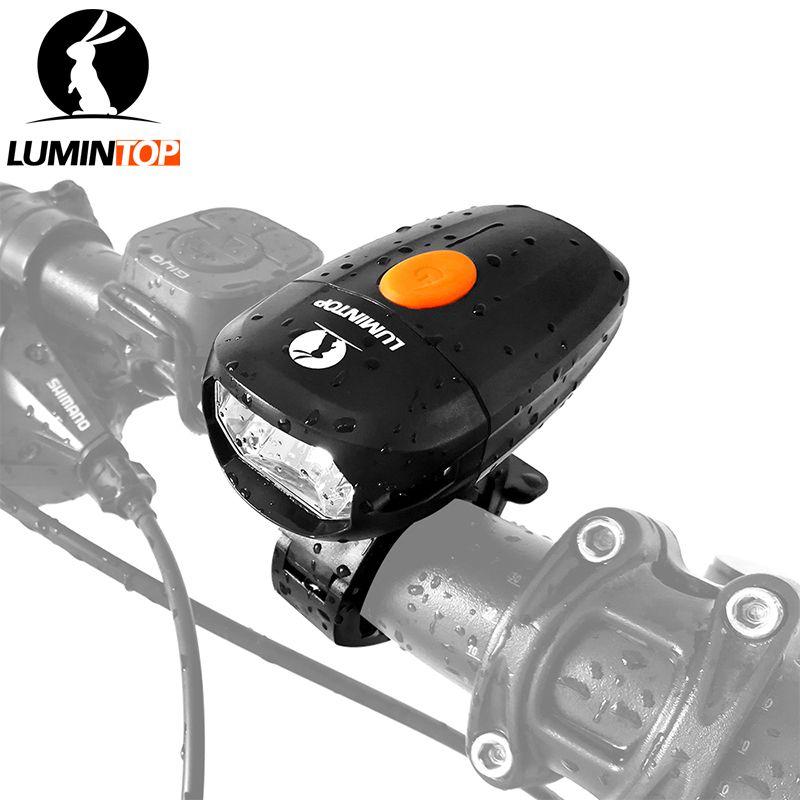 LUMINTOP Vélo Lumière C01 USB Rechargeable Anti-éblouissement 360-degré rotatif vélo lumière avec Amovible et réglable vélo montage