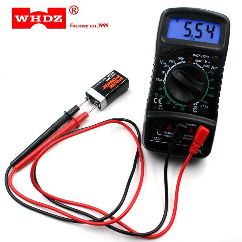 XL830L Digital Multimeter Portable AC/DC Voltmeter DC Ammeter resistance tester Blue Backlight Free Shipping