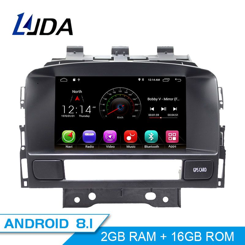 LJDA Android 8.1 Car DVD Player For Buick Verano Vauxhall Opel Astra J GPS Navigation 2 Din Car Radio Multimedia WIFI Stereo SD