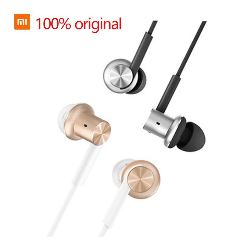 Xiaomi anneau de fer écouteurs 100% d'origine Xiaomi oreille filaire musique Xiaomi commande Hybride écouteurs de réduction du bruit