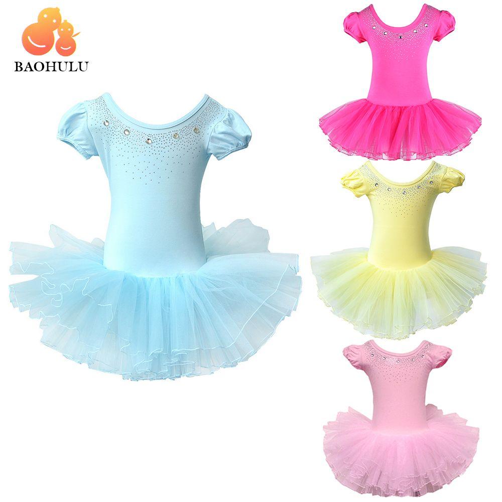 2018 BAOHULUCute Filles Ballet Robe pour Enfants Fille De Danse Vêtements Enfants Ballet Costumes pour Filles De Danse Justaucorps Fille Vêtements