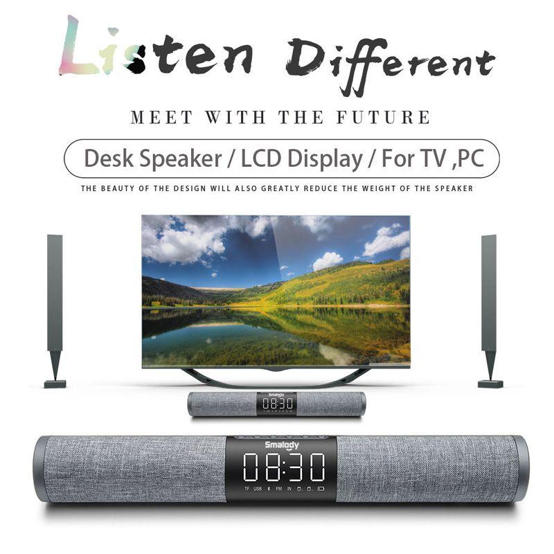 Home TV Soundbar Bluetooth Lautsprecher Tragbare Drahtlose Subwoofer 3D Surround FM Radio MP3 MP4 Alarm Uhr