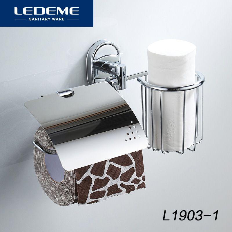 LEDEME porte-papier hygiénique avec étagère murale inox panier et porte-papier s multifonction bain quincaillerie L1903-1