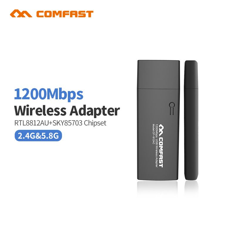 COMFAST CF-912AC 1200M 802.11AC ordinateur portable double bande 2.4Ghz + 5Ghz USB 3.0 sans fil/WiFi adaptateur gigabit adaptateur Dongle