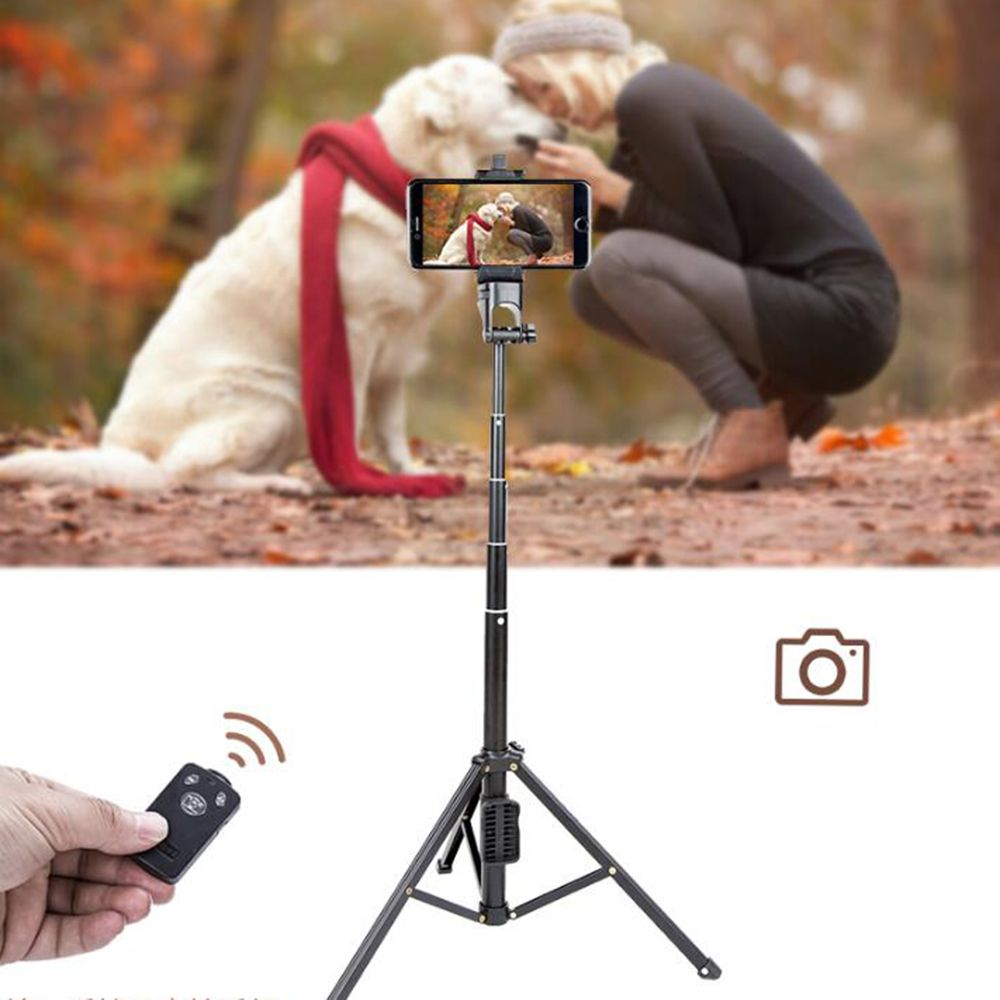 Pour iPhone Sumsang téléphone caméra DV Yunteng 1688 portable Mini trépied autoportrait monopode Selfie bâton Bluetooth retardateur pôle