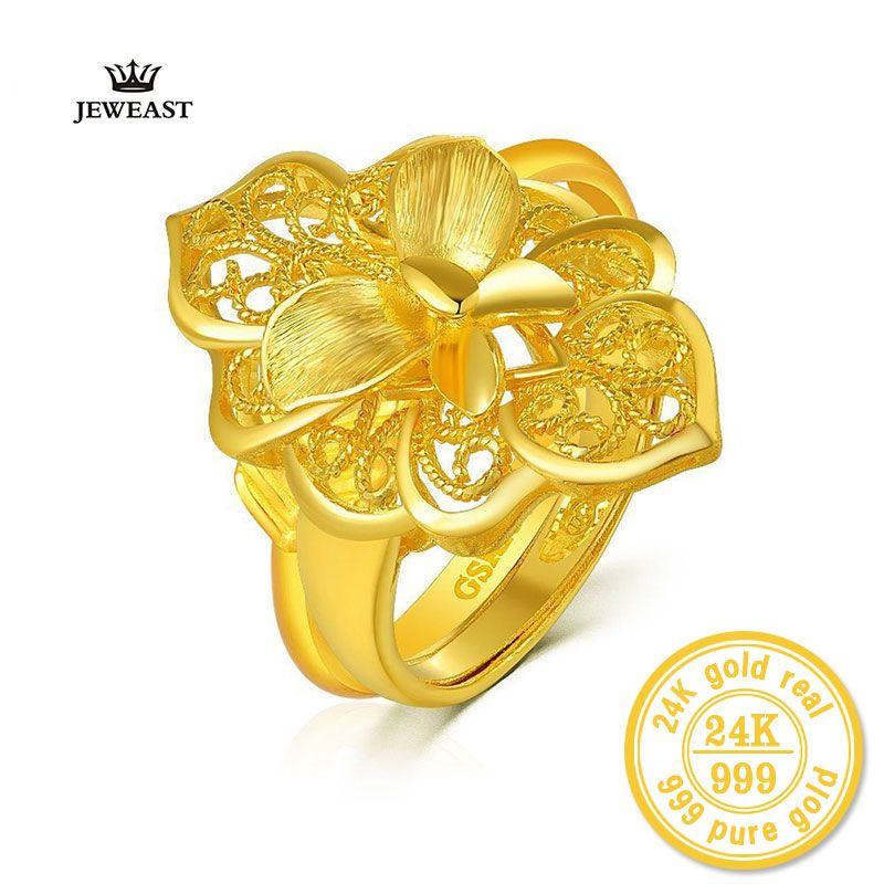 XXX ZZZ JEWEAST 2017 Neue heiße Lovers 24 k reines Gelb Gold mit Blume Dekoration Charme & Mode Edlen Schmuck für Hochzeit