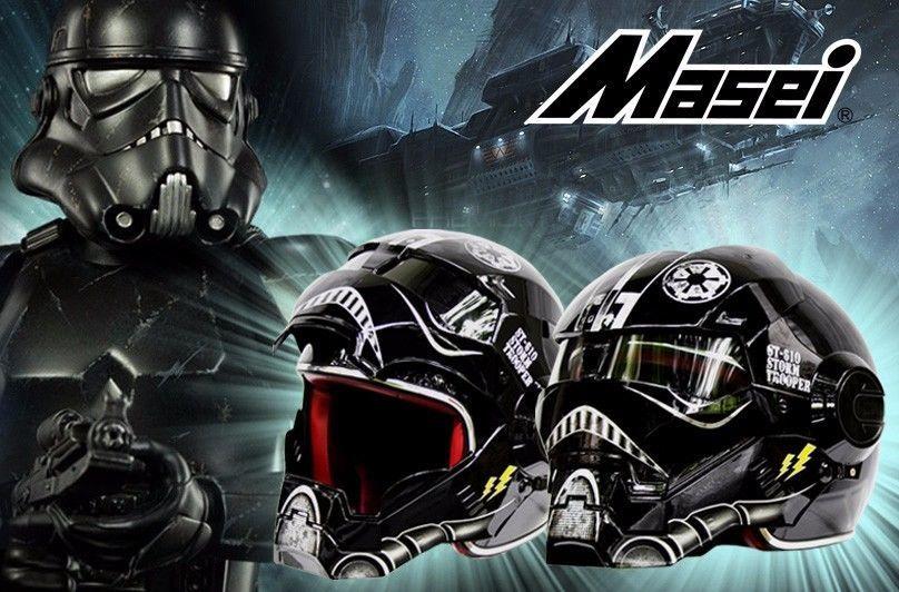 Kostenloser versand top abs moto biker helm masei iron man persönlichkeit special fashion halb offen gesicht motocross helm star wars