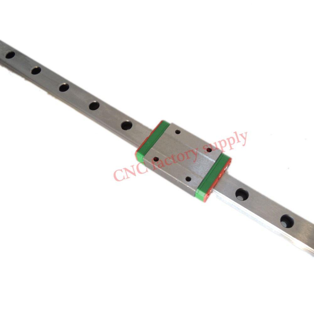 3D print parts cnc Kossel Mini MGN15 15mm miniature linear rail slide 1pcs 15mm L-100mm rail+1pcs MGN15H carriage