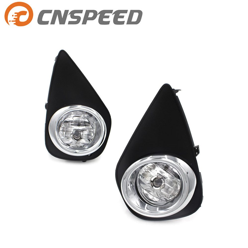 CNSPEED Fog lights for 2015-2016 Toyota Yaris Hatchback 2/4Dr Clear Fog Lamps Driving Lamps+Switch Driving Lamps YC101064-CL