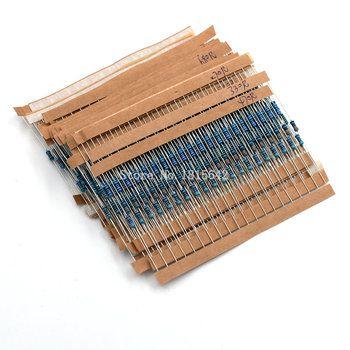 600 PCS/LOT 1/4 W Métal Film Résistance Kit 1% Resistor Assortis Kit ensemble 10 ohms-1m ohm Résistance Pack 30 Valeurs chaque 20 pcs