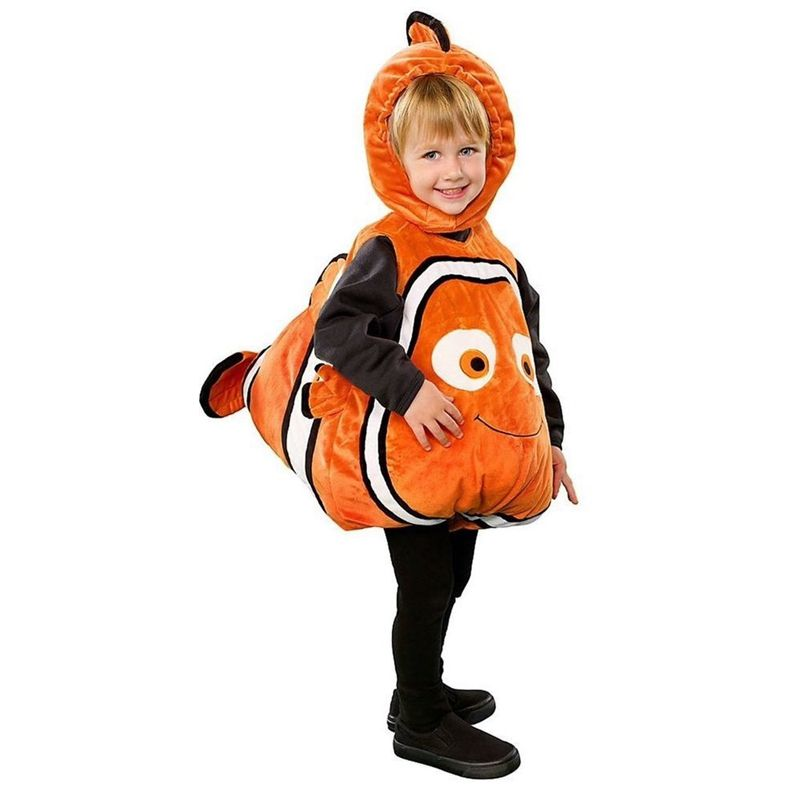 Deluxe Adorable Child Clownfish From Pixar Animated Film Finding Nemo Little Baby Fishy Halloween Cosplay Costume Age 2-7 <font><b>Years</b></font>