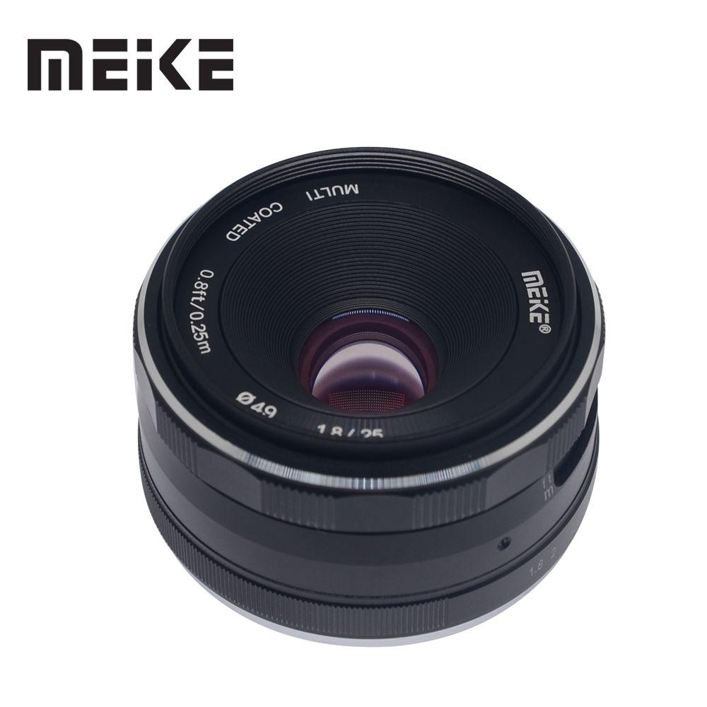 Meike 25mm f/1,8 Große Blende Weitwinkel Objektiv Manueller Fokus Objektiv für Sony E-mount A6000 a6300 A7 A6500 A7RIII A9 mit APS-C