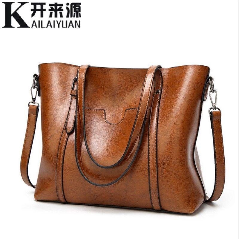 SNBS 100% Genuine leather Women handbags 2018 New Classical wind portable big bag shoulder bag temperament female tote bag